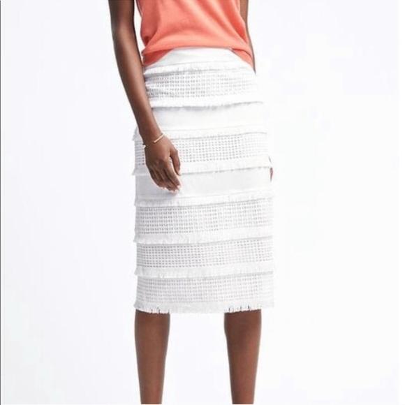 7e0c4de6c4 Banana Republic Dresses & Skirts - BANANA REPUBLIC | white crochet pencil  midi skirt